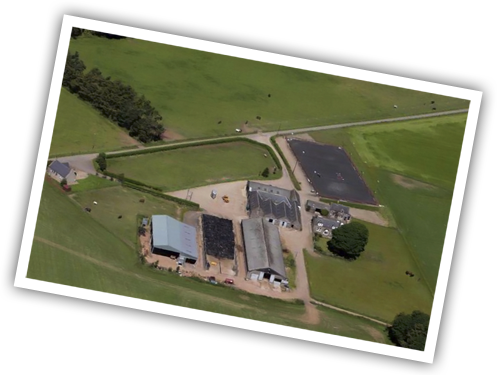 Halymyres Stables Aerial View